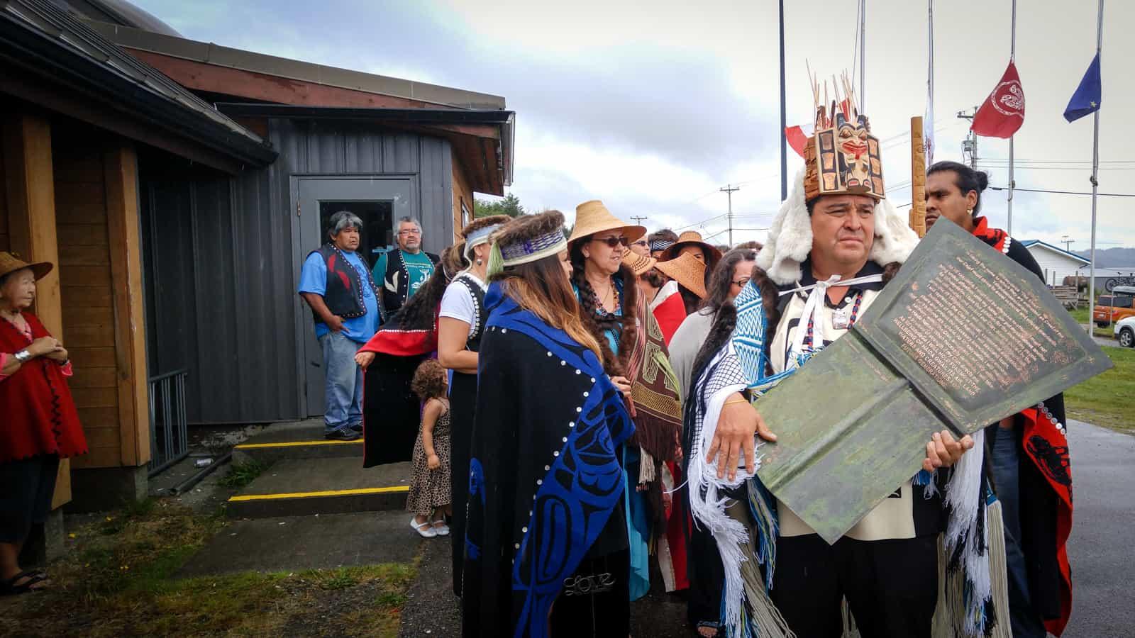 What made this Haida clan potlatch so historic?