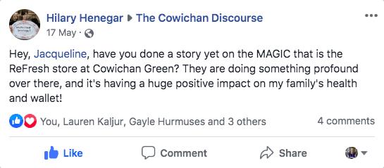 The Cowichan Discourse twitter question