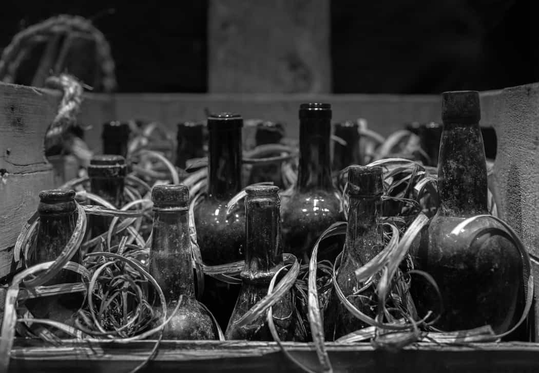 Bootleg bottles from Mill Bay's Rum-running past.