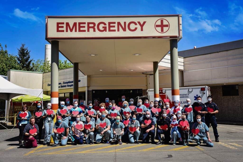 Emergency department staff Cowichan District hospital