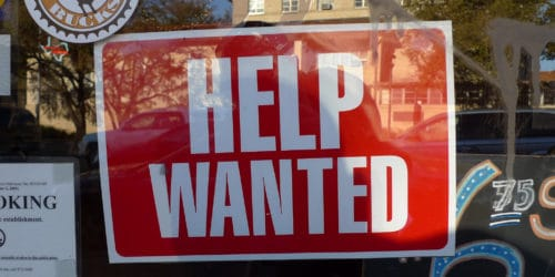 help wanted jobs sign